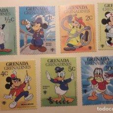 Sellos: SELLOS MICKEY MOUSE, GOOFY Y DONALD. DISNEY. ISLA DE GRANADA. Lote 118860899