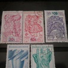Sellos: SELLOS DE CHECOSLOVAQUIA MTDOS (USADOS).1958. JUQUETES. TURBINA. VASO. JOYAS. TELAS. EXPOSICION BRUS. Lote 122764078