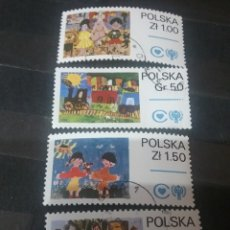 Timbres: SELLOS R. POLONIA (POLSKA) MATASELLADOS. 1979. AÑO INTERNACIONAL NIÑO. TREN. JUGUETES. FAMILIA. SOL.. Lote 125232018