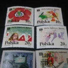 Timbres: SELLOS R. POLONIA (POLSKA) MTDOS. 1987. CUANTOS. HADAS. H. C. ANDERSEN. SOLDADO. BARCO. NIÑA. FLOR.. Lote 126007655