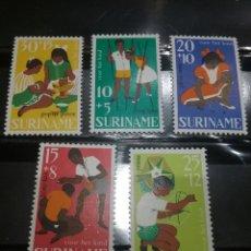 Sellos: SELLOS R. SURINAM (SURINAME) NUEVOS. 1967. ZANCOS. JUEGOS. CANICAS. TABA. COMETA. NIÑOS. COCINAR. NI. Lote 130810981