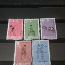 Sellos: SELLOS R. SURINAM (SURINAME) NUEVOS. 1968. NIÑAS. JUEGOS. PIRAMIDE. SOGA. BRICOLAJE. RULETA. PELOTA.. Lote 130835556