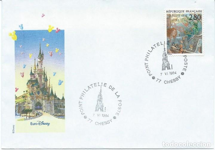 1994. FRANCIA/FRANCE. SOBRE ILUSTRADO CON MATASELLOS DE CHESSY - EURODISNEY. NIÑOS/CHILDREN. (Sellos - Temáticas - Infantil)