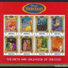Sellos: GRENADA 1998 IVERT 3209/16 *** HERCULES - DIBUJOS DE WALT DISNEY (II). Lote 133722902