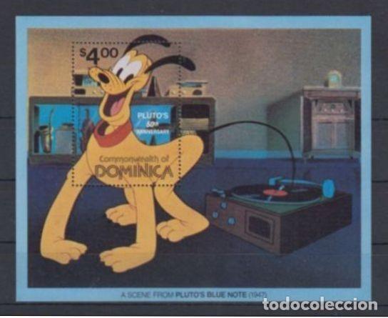 SELLO DOMINICA 1981 DISNEY 50 ANIVERSARIO DE PLUTO (Sellos - Temáticas - Infantil)