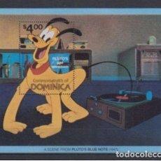 Sellos: SELLO DOMINICA 1981 DISNEY 50 ANIVERSARIO DE PLUTO. Lote 143723124