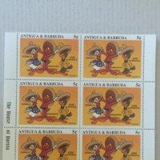 Sellos: SELLOS WALT DISNEY ANTIGUA & BARBUDA SERIE DE 6 PLIEGOS CON 6 SELLOS.. Lote 134854998