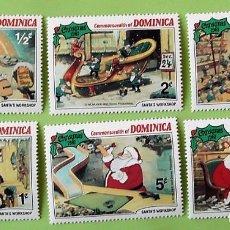 Francobolli: DOMINICA. NAVIDAD 1981 WALT DISNEY, SERIE CORTA (6). SELLOS NUEVOS Y NUMERACIÓN YVERT.. Lote 135323497