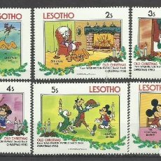 Sellos: LESOTHO - LOTE DE SELLOS TEMATICA DISNEY NAVIDAD 1983 - MICKEY - MINNIE - DONALD - GOOFY . Lote 136832944