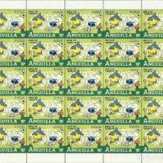 Sellos: ANGUILLA 1982 HOJA BLOQUE MUNDIAL DE FUTBOL ESPAÑA 82- FIFA- BEDKNOBS AND BROOMSTICKS- DISNEY . Lote 135794606