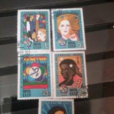 Sellos: SELLOS RUSIA (CCCP.URSS) MTDOS/1985./FESTIVAL MUNDIAL JUVENTUD/CAMARA/FOTO/RAZAS/LOGOS/INFANCIA/FLOR. Lote 137126308