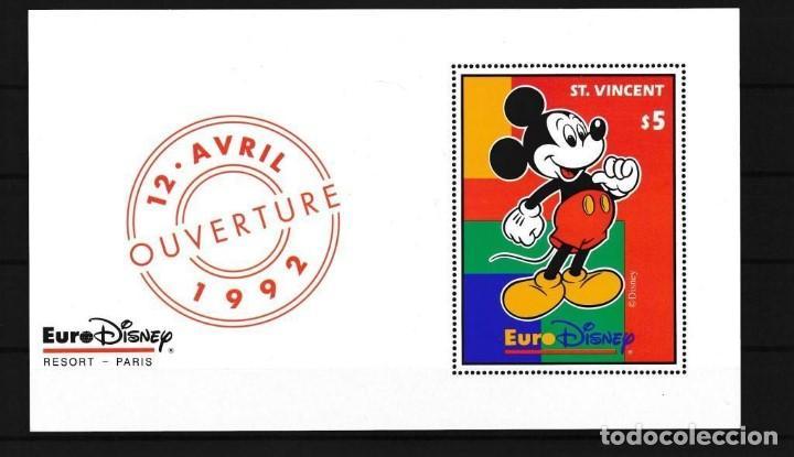ST. VINCENT 1992 DISNEY INAUGURACIÓN DE EURODISNEY PARIS (Sellos - Temáticas - Infantil)