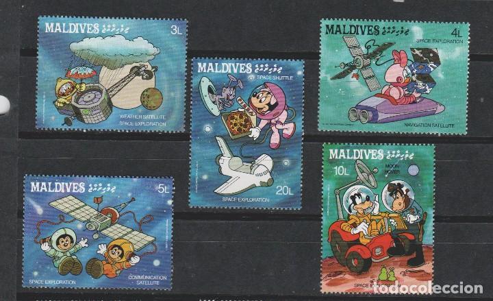 LOTE 1 SELLOS DISNEY TEMA ESPACIAL NUEVOS MALDIVES (Sellos - Temáticas - Infantil)