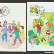 Sellos: LIECHTENSTEIN 1989 CARTAS MÁXIMAS. INFANTIL. NIÑOS.. Lote 139610330