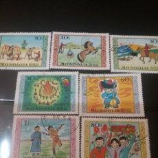 Sellos: SELLOS R. MONGOLIA MTDOS/1976/DIA INTERN. NIÑO/JUEGOS/CAMELLOS/CABALLOS/DANZAS/FLORES/PAISAJES/NATUR. Lote 143326874