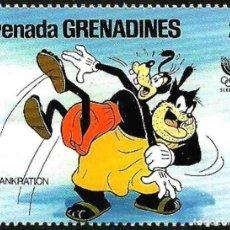 Timbres: GRANADA GRANADINAS 1988 SCOTT 940 SELLO ** WALT DISNEY JUEGOS OLIMPICOS DE COREA SEUL PLUTO GRENADA. Lote 144283474