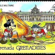 Sellos: GRANADA GRANADINAS 1989 SCOTT 1057 SELLO ** WALT DISNEY ESCUELA MILITAR PARIS MICKEY Y DONALD 1C. Lote 205354170
