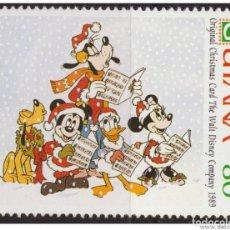 Francobolli: GUYANA 1991 SCOTT 2470 SELLO ** WALT DISNEY MICKEY Y AMIGOS CANTANDO VILLANCICOS TARJETAS DE NAVIDAD. Lote 144284910