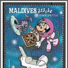 Timbres: MALDIVAS 1988 SCOTT 1277 SELLO ** WALT DISNEY ESPACIO EXPLORACIÓN ESPACIAL SHUTTLE MINNIE 20L. Lote 144288354