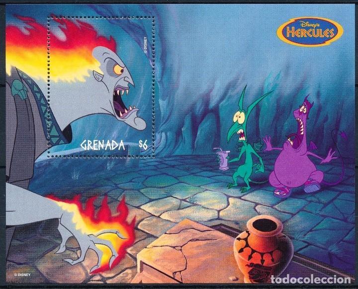 SELLO GRENADA 1998 HERCULES DISNEY (Sellos - Temáticas - Infantil)