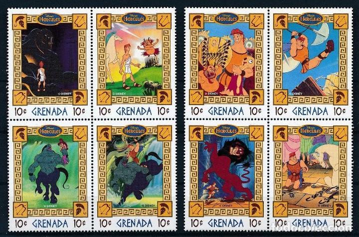 SELLOS GRENADA 1997 HERCULES DISNEY (Sellos - Temáticas - Infantil)