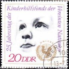 Sellos: 1971 - ALEMANIA - DDR - 25º ANIVERSARIO DE UNICEF - YVERT 1379. Lote 147430246
