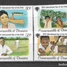 Sellos: DOMINICA 1979 SC 613-616 (4) 3.50 ** MNH - 7/16. Lote 148620210