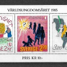 Sellos: SUECIA 1985 HOJA BLOQUE INFANTIL ** MNH - 117. Lote 148845942