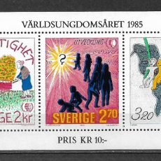 Sellos: SUECIA 1985 HOJA BLOQUE INFANTIL ** MNH - 117. Lote 148845970