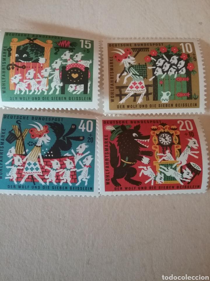 SELLOS ALEMANIA, R. FEDERAL NUEVO/1963/CUENTOS POPULARES, EL LOBO Y LOS CABRITILLOS/ANIMALES/INFANCI (Sellos - Temáticas - Infantil)