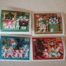 Timbres: SELLOS ALEMANIA, R. FEDERAL NUEVO/1963/CUENTOS POPULARES, EL LOBO Y LOS CABRITILLOS/ANIMALES/INFANCI. Lote 155028516