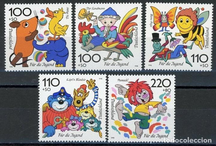 ALEMANIA FEDERAL 1998 IVERT 1822/6 *** POR LA JUVENTUD - PERSONAJES DE DIBUJOS ANIMADOS (Sellos - Temáticas - Infantil)