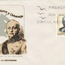 Sellos: EDIFIL 1976, EL GENERAL PRIMO DE RIVERA, PRIMER DIA DE 6-6-1970 , SOBRE DE SISO. Lote 165635854