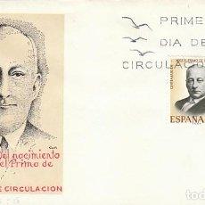Sellos: EDIFIL 1976, EL GENERAL PRIMO DE RIVERA, PRIMER DIA DE 6-6-1970 , SOBRE DEL SFC. Lote 165635902