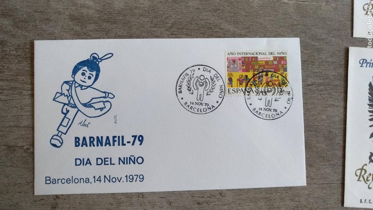 SOBRE DÍA DEL NIÑO. BARNAFIL 79. 14 NOVIEMBRE 79 (Sellos - Temáticas - Infantil)