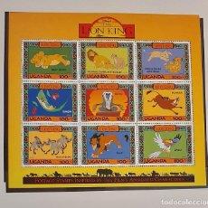 Sellos: SELLOS UGANDA 1994 - THE LION KING / REY LEON - MH 9 SELLOS YVERT 1126/34. Lote 191306272