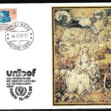 Sellos: UNICEF. NACIONES UNIDAS VIENA 1980. ESSEN. Lote 192012356