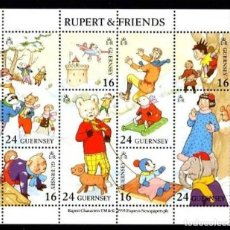Sellos: GUERNSEY 1993 - RUPERT AND FRIENDS - YVERT Nº 23** HOJITA BLOQUE. Lote 198714132