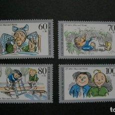 Sellos: /01.04/-ALEMANIA FEDERAL-1990-Y&T 1287/90 SERIE COMPLETA EN NUEVO(**MNH)-LITERATURA INFANTIL. Lote 198947116