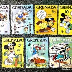 Timbres: GRANADA. 960/63 PASCUA'81. PERSONAJES DE WALT DISNEY: MICKEY. GOOFY, DONALD, CHIP, DAISY... 1981. SE. Lote 200062242