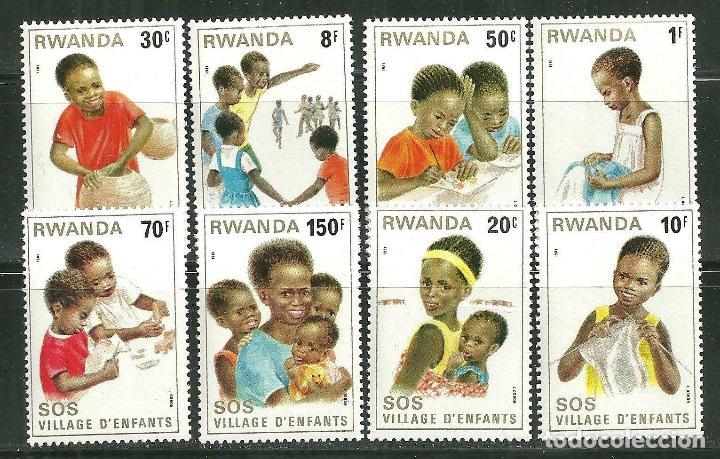 RWANDA 1981 IVERT 984/91 *** CIUDAD DE LOS NIÑOS S.O.S. EN KIGALI - INFANTIL (Sellos - Temáticas - Infantil)