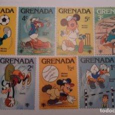 Sellos: SELLOS MICKEY MOUSE, GOOFY Y DONALD. DISNEY. ISLA DE GRANADA. Lote 191134356