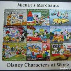 Sellos: HOJITA DE MICKEY'S MERCHANTS ST VINCENT AND THE GRENADINES ,MUE-L.. Lote 205024765