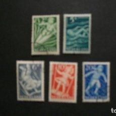 Sellos: /26.05/-HOLANDA-1949-Y&T 499/503 SERIE COMPLETA EN USADO/º/. Lote 205854828