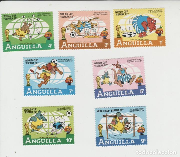 LOTE 3-SELLOS DISNEY MUNDIAL FUTBOL 82 (Sellos - Temáticas - Infantil)