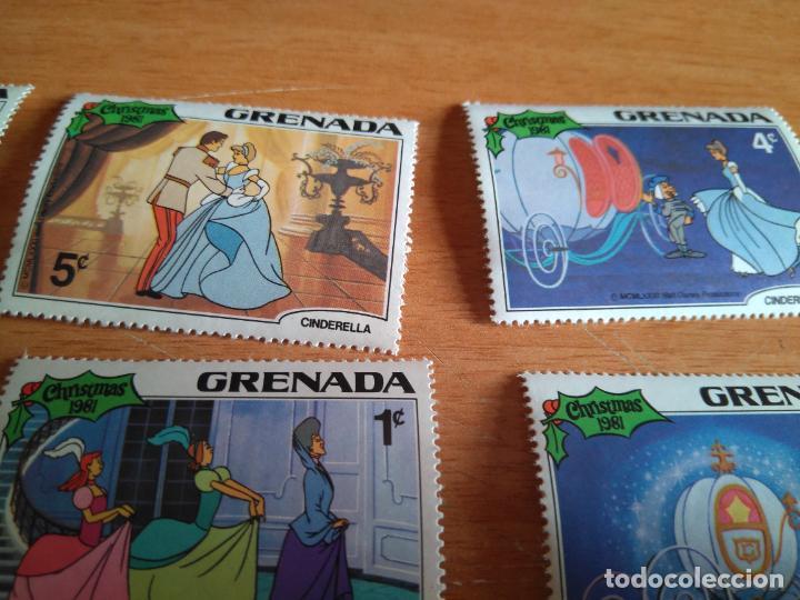 Sellos: LOTE DE SELLOS - GRANADA - WALT DISNEY, LA CENICIENTA - 1981 - SIN USAR. - Foto 2 - 206870570