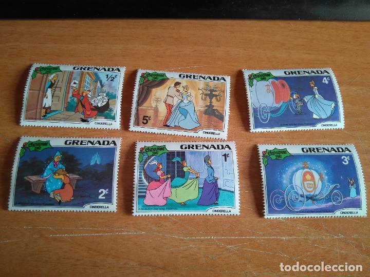 LOTE DE SELLOS - GRANADA - WALT DISNEY, LA CENICIENTA - 1981 - SIN USAR. (Sellos - Temáticas - Infantil)