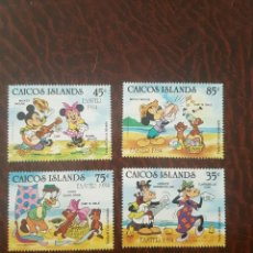 Sellos: SELLOS TEMA DISNEY. CAICOS ISLANDS 1984 35/38 4V.. Lote 206931506