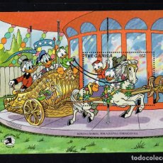 Timbres: GAMBIA HB 80** - AÑO 1989 - PERSONAJES DE DISNEY - WORD STAMP EXPO 89. Lote 209138145