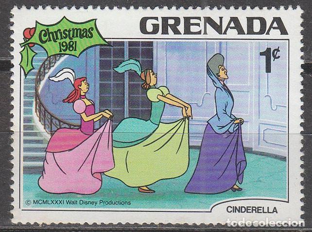GRENADA Nº 1113, CENICIENTA DE DISNEY, NUEVO *** (Sellos - Temáticas - Infantil)